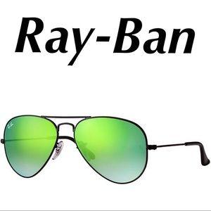 Ray-Ban Aviator Sunglasses Black MultiColor